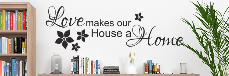 Muursticker raamstickers stickers home huis teksten en spreuken