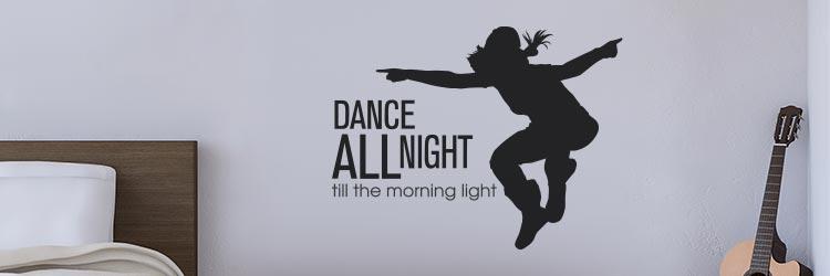 Muursticker Raamstickers stickers dansen dansers
