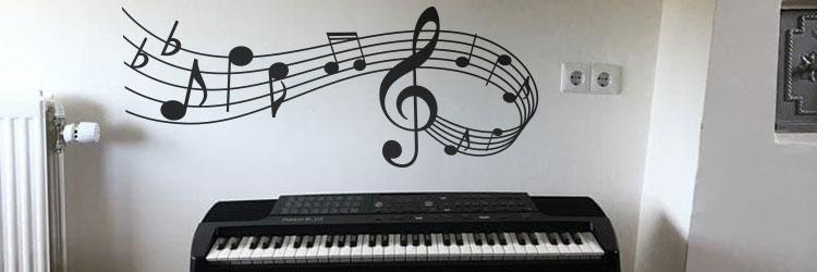 Muurstickers Raamstickers stickers muziek muzieknoten