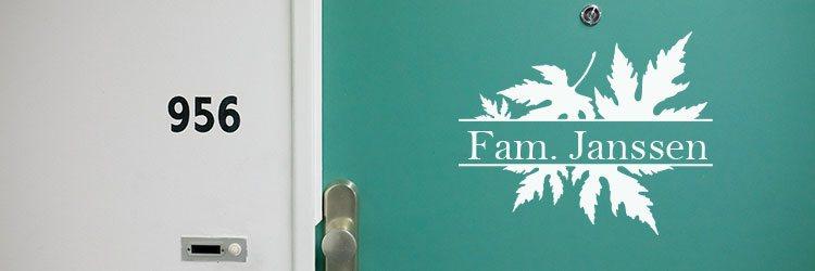 Naamborden stickers deurstickers naamstickers raamfolie