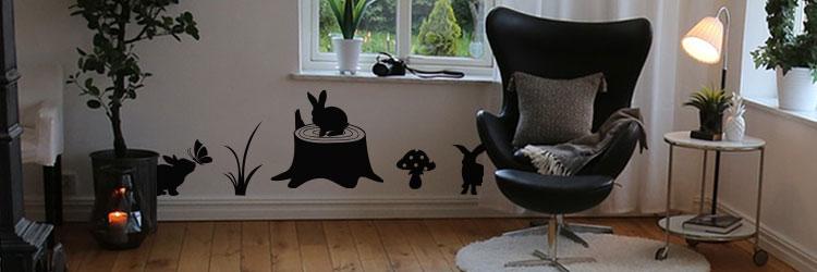 Kinderkamer Muursticker raamstickers stickers konijnen konijn