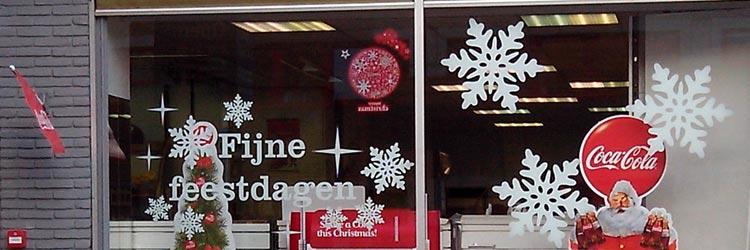 Fijne kerstdagen raamstickers
