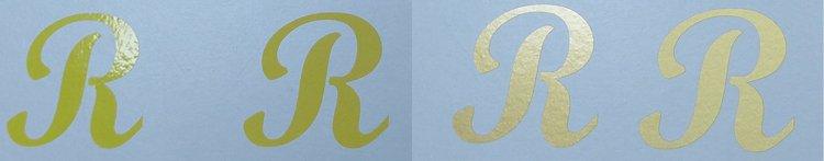 Sticker geel goud
