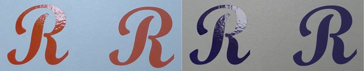 Sticker oranje paars