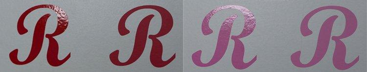 Sticker rood roze
