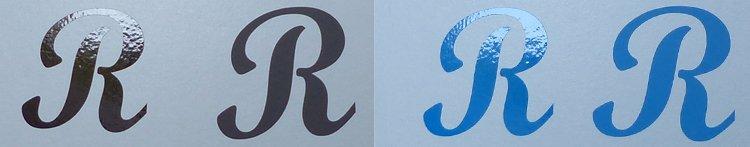 Sticker bruin blauw