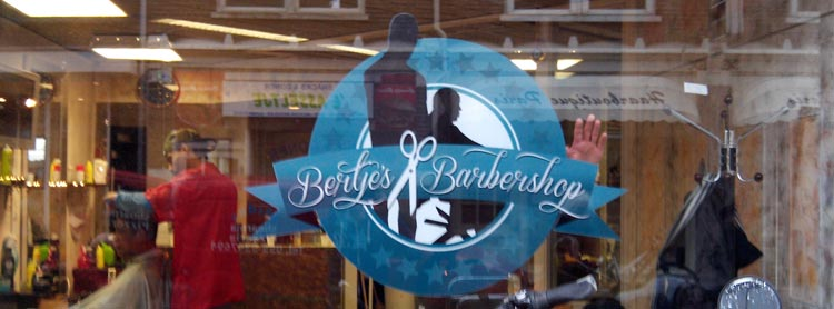 Full-color sticker Bertje's Barbershop