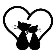 2 katten staart hart