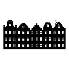 Amsterdamse huisjes aan elkaar