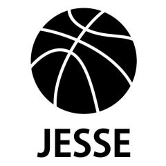 Basketbal met naam