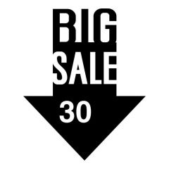 Big sale korting pijl