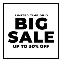 Big sale korting sticker raamsticker