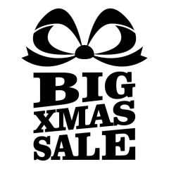 Big xmas Sale raamsticker winkel