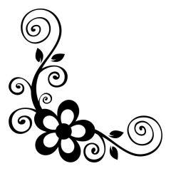 Bloem met swirls