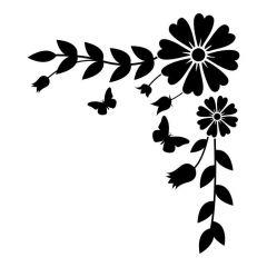 Bloemen met bladeren