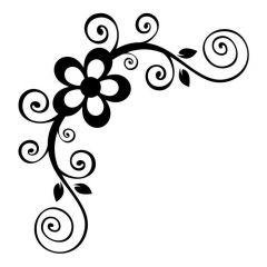 Bloemen met swirls 1