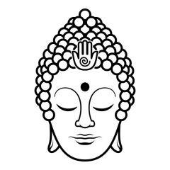 Boeddha hoofd details