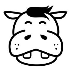 Cartoon nijlpaard
