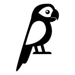 Cartoon papegaai