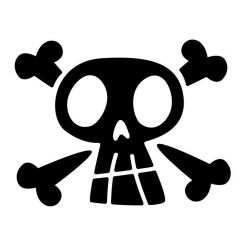 Cartoon piraten doodshoofd