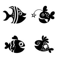 Cartoon vissen set