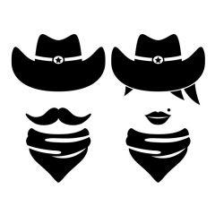 Cowboy en cowgirl