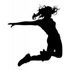 Danser springt