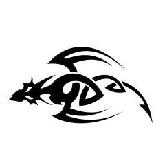 Draak tribal bovenaanzicht
