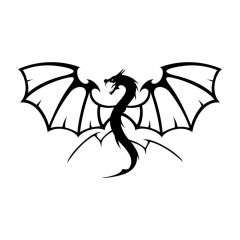 Draak vleugels gespreid