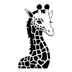 Giraffe kop zijkant