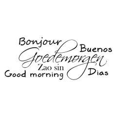 Goedemorgen verschillende talen