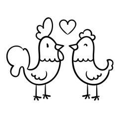 Haan en kip