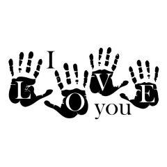 Handafdruk i love you