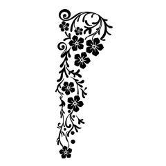 Hangende bloemen tak