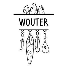 Hangers en veren met naam