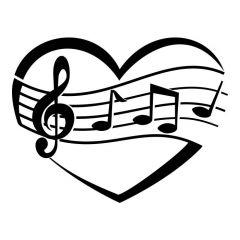 Hart met muzieknoten