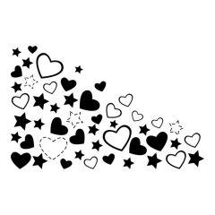 Hartjes en sterren patroon