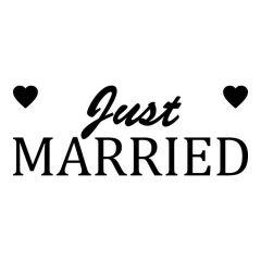 Just married met hartjes