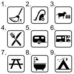 Kampeer pictogram
