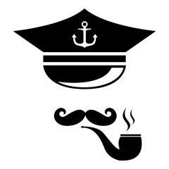 Kapitein met pijp