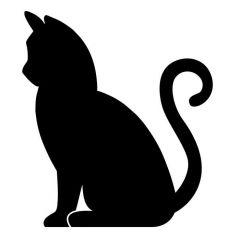 Kat zit krul staart