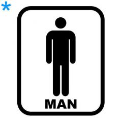 Toilet wc pictogram los