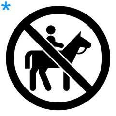Verboden paardrijden