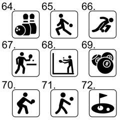Kies uw sport pictogram