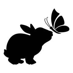 Konijntje met vlinder