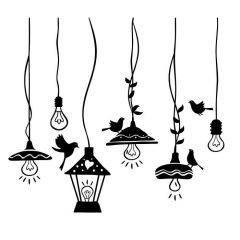 Lampen met vogels