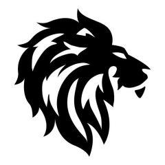 Leeuwenkop silhouet