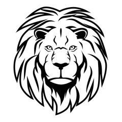 Leeuwenkop voorkant muursticker raamsticker