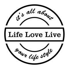 Uitverkoop Life love live muursticker