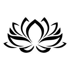 Lotus bloem tribal muursticker raamsticker